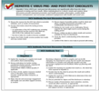 Hepatitis C virus pre- post-test checklists