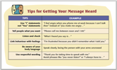 Web Tip card - getting message heard