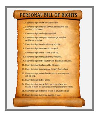 Bordered - Aboriginal-Bill of rights
